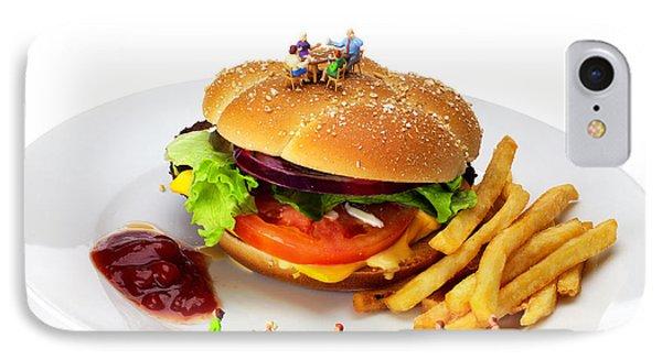 Healthy Life Versus Foodie Life Miniature Art IPhone Case