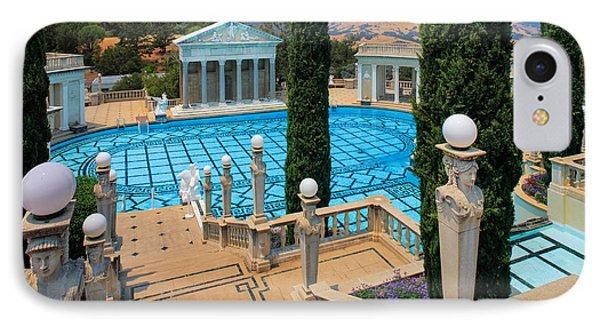 Hearst Castle Neptune Pool IPhone Case by Inge Johnsson