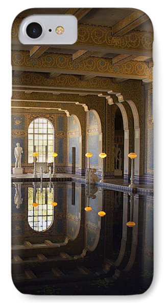 Hearst Castle Roman Pool Reflection IPhone Case by Heidi Smith