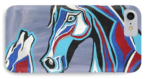 Heart And Soul - Abstract Horse Art By Valentina Miletic IPhone Case by Valentina Miletic