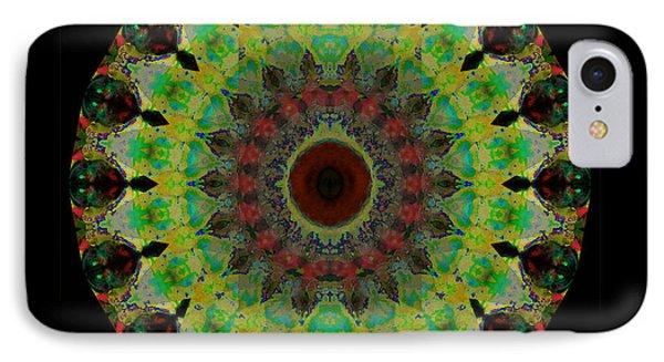 Heart Aura - Mandala Art By Sharon Cummings IPhone Case by Sharon Cummings