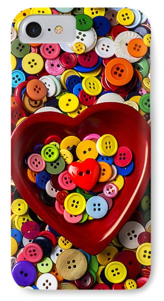 Heart Bowl With Buttons Phone Case by Garry Gay