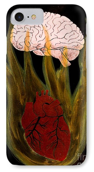 Heart Cooks Brain IPhone Case by Stefanie Forck