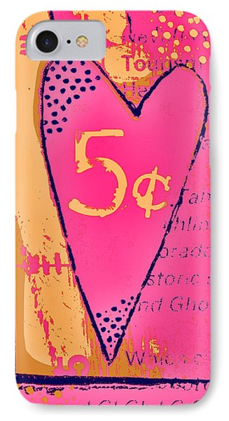 Heart Five Cents Phone Case by Carol Leigh