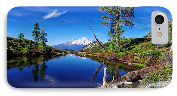 Heart Lake And Mt Shasta Reflection Phone Case by Scott McGuire