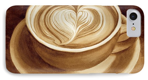 Heart Latte II IPhone Case by Hailey E Herrera