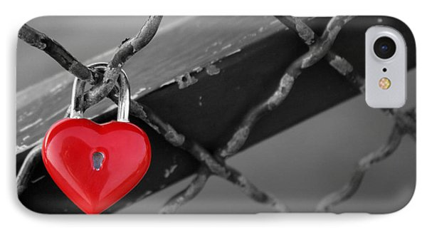 IPhone Case featuring the photograph Heart Lock by Lisa Parrish