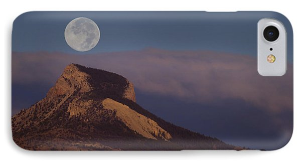 Heart Mountain And Full Moon-signed-#0325 IPhone Case by J L Woody Wooden