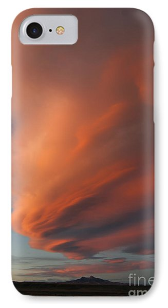 Heart Mountain Cirrus Sunset-signed IPhone Case by J L Woody Wooden