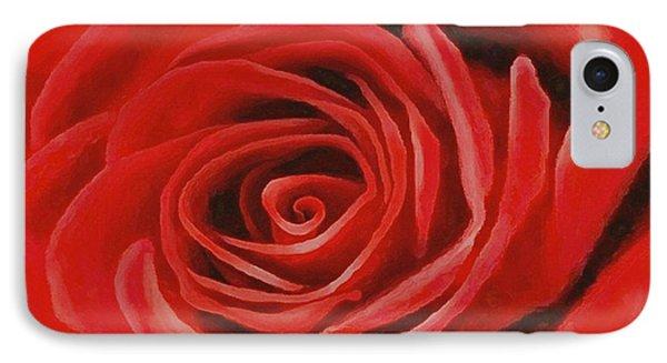 Heart Of A Red Rose IPhone Case by Sophia Schmierer