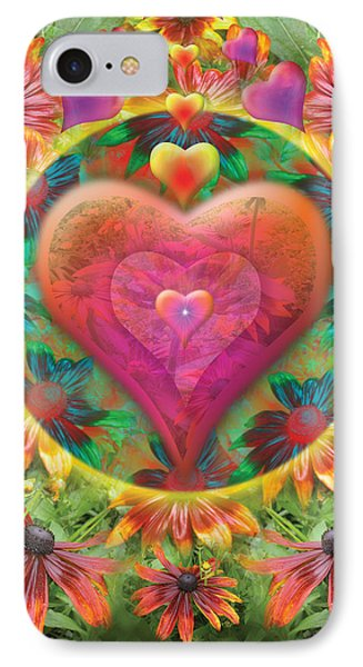 Heart Of Flowers Phone Case by Alixandra Mullins