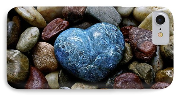 Heart Of Stone Phone Case by Lisa  Telquist