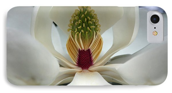 IPhone Case featuring the photograph Heart Of The Magnolia by Andy Lawless