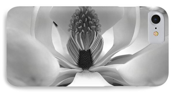 Heart Of The Magnolia Black And White IPhone Case by Andy Lawless
