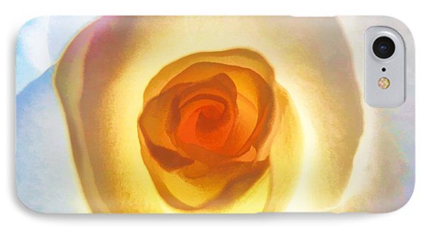 Heart Of The Rose IPhone Case by Peggy Hughes