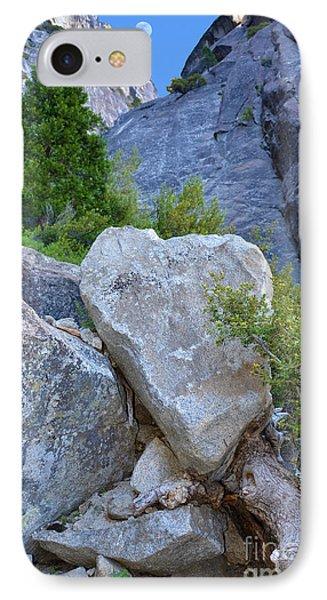 Heart Rock In Yosemite IPhone Case by Debra Thompson