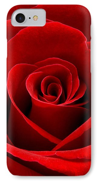 Heart Rose Vertical Phone Case by Dawn  Black