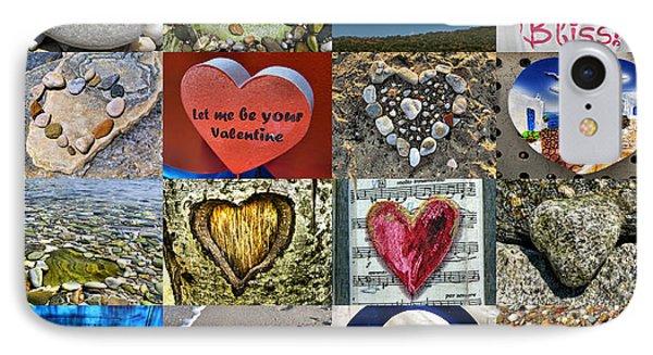 Heart Shape Collage  Phone Case by Daliana Pacuraru