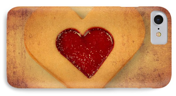 Heart Shaped Cookie With Texture Phone Case by Matthias Hauser