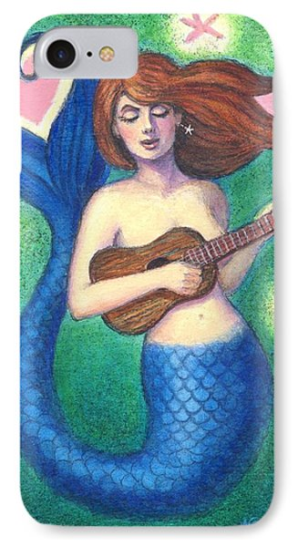 IPhone Case featuring the painting Heart Tail Mermaid by Sue Halstenberg