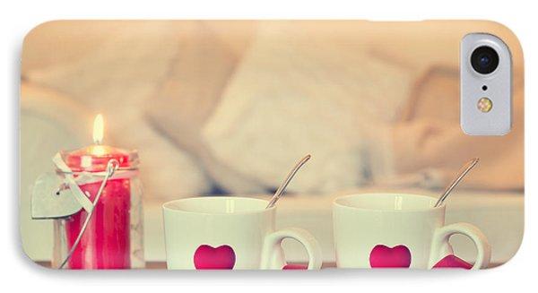 Heart Teacups Phone Case by Amanda Elwell