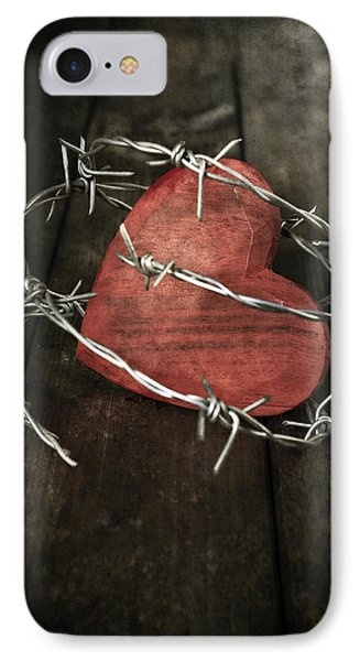 Heart With Barbed Wire Phone Case by Joana Kruse