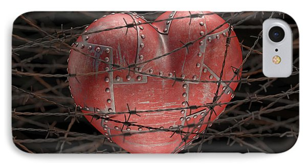 Heart With Barbed Wire IPhone Case