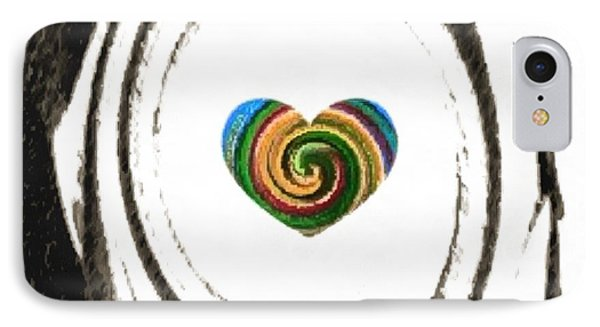 IPhone Case featuring the digital art Heart Within by Catherine Lott