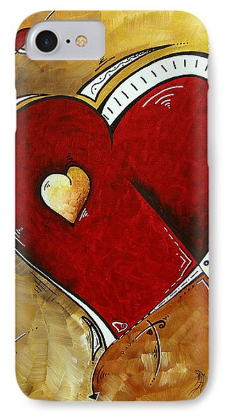 Heartbeat By Madart Phone Case by Megan Duncanson
