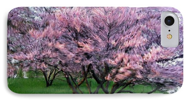 IPhone Case featuring the painting Heartfelt Cherry Blossoms by Bruce Nutting