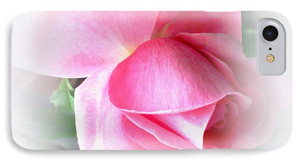 Heartfelt Pink Rose IPhone Case by Judy Palkimas