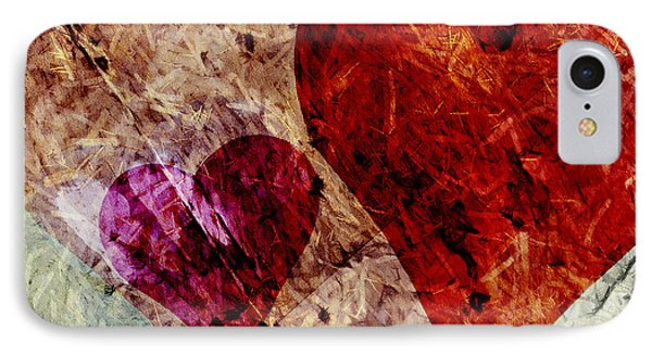 Hearts 10 Square Phone Case by Edward Fielding