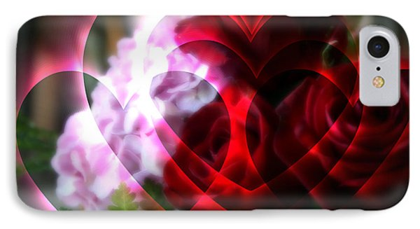 Hearts A Fire IPhone Case by Kay Novy