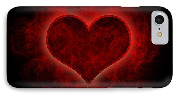Heart's Afire IPhone Case by Beverly Stapleton