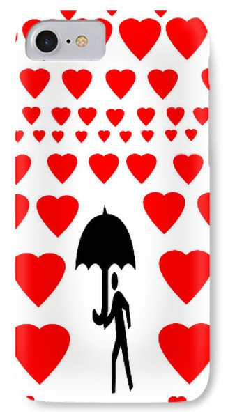 IPhone Case featuring the digital art Hearts Attack  by Sladjana Lazarevic