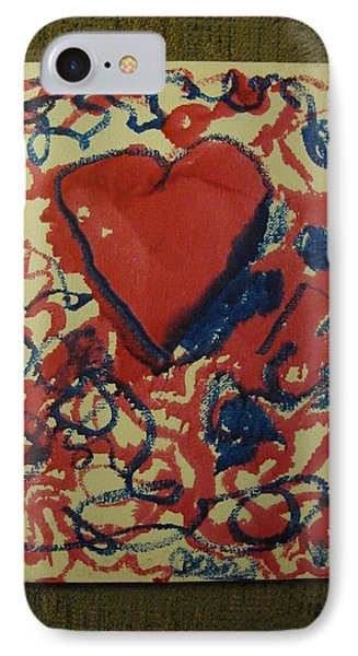 IPhone Case featuring the painting Hearts Entwined by Lawrence Christopher