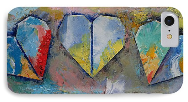 Hearts IPhone Case by Michael Creese