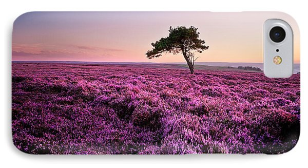 Tree iPhone 7 Case - Heather At Sunset by Janet Burdon