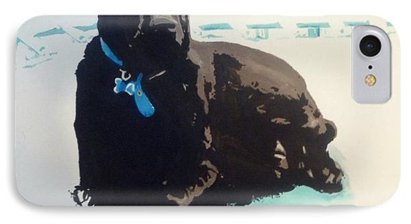 IPhone Case featuring the painting Heathers Dog by Cherise Foster