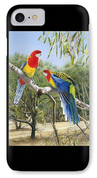 Heatwave - Eastern Rosellas IPhone Case by Frances McMahon