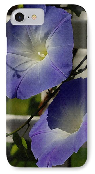 IPhone Case featuring the photograph Heavenly Blue Morning Glory by James C Thomas