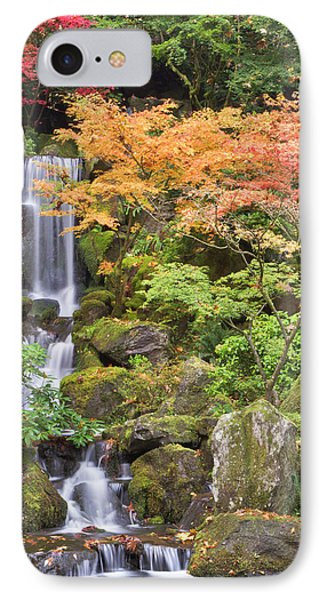 Heavenly Falls And Autumn Colors IPhone Case by William Sutton