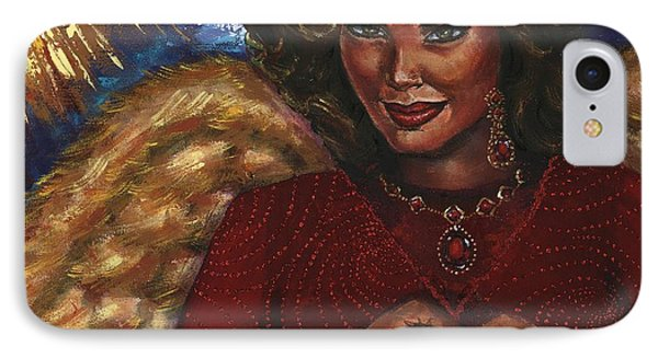 IPhone Case featuring the painting Heavenly Love by Alga Washington