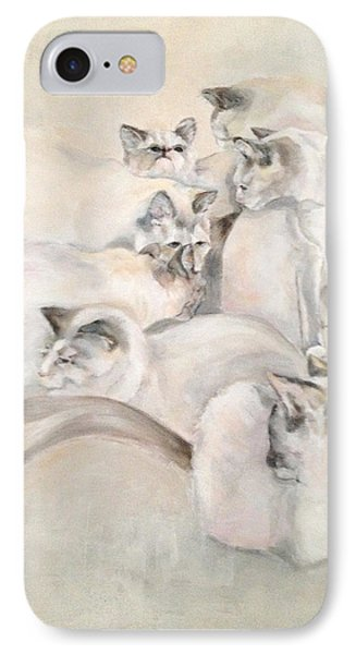 Heavenly Puffs Phone Case by Janet Felts