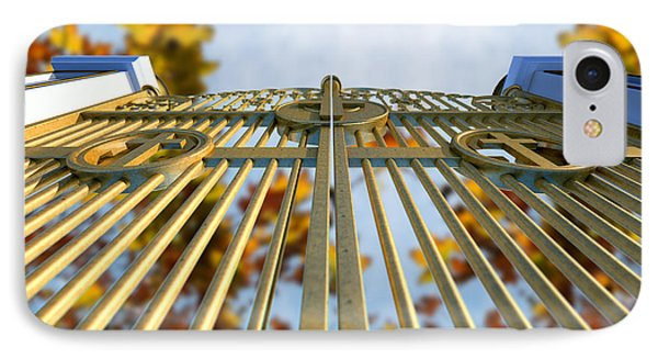 Heavens Golden Gates And Autumn Leaves IPhone Case by Allan Swart