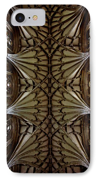Heavenward -- Winchester Cathedral Ceiling IPhone Case by Stephen Stookey