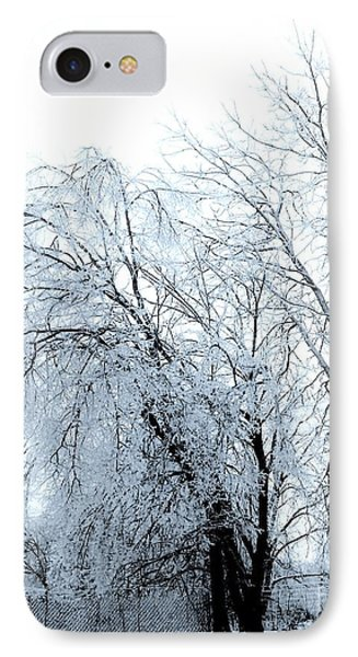 Heavy Ice Tree Redo Phone Case by Marsha Heiken