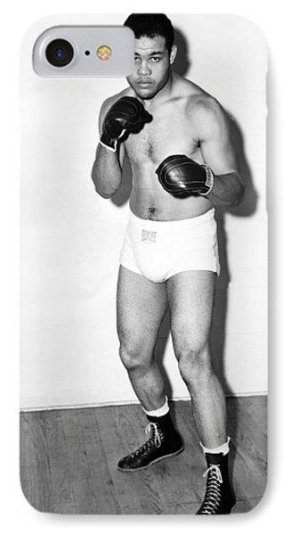 Heavyweight Champion Joe Louis IPhone Case by Underwood Archives