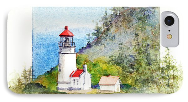 Heceta Head Lighthouse IPhone Case by Bonnie Rinier