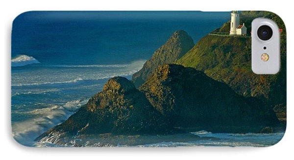 Heceta Head Seascape IPhone Case by Nick  Boren